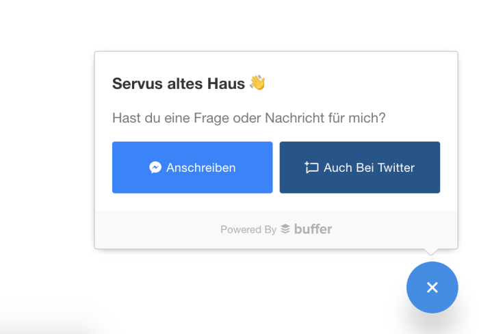 Buffer Social Chat