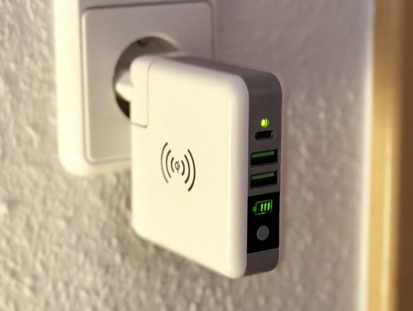 Smrter Wireless Qi Powerbank als Netzteil