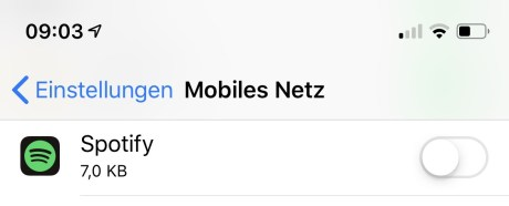 Spotify Mobiles Netz
