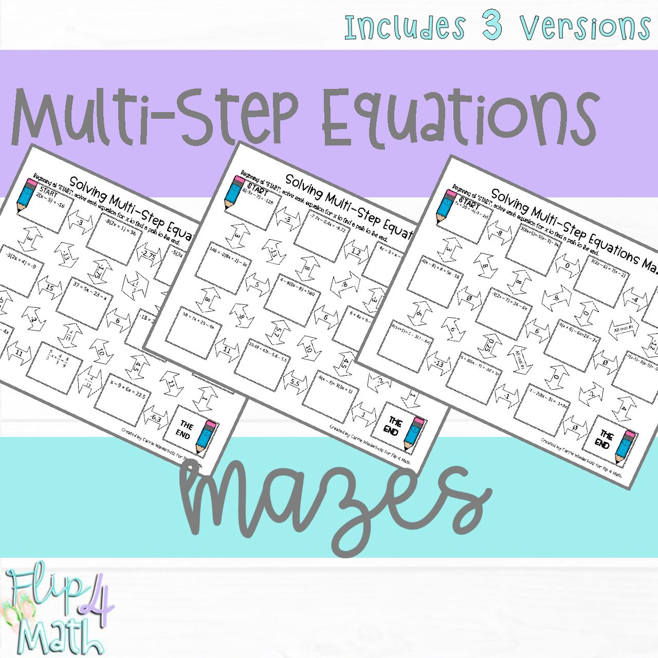 Solving Multi Step Equations Maze