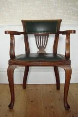 Solid oak desk chair, 1940s.