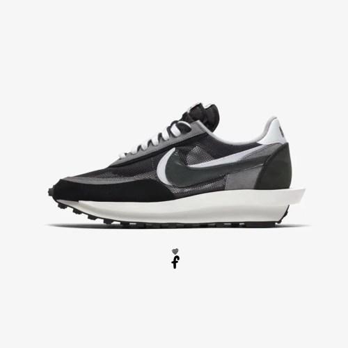 Sacai x Nike LD Waffle Blue Negras