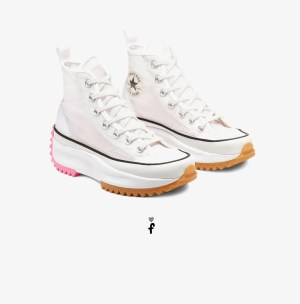 Converse Run Star Hike High Top blancas rosa