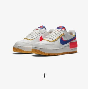 Nike Air Force 1 Shadow blancas azules lila