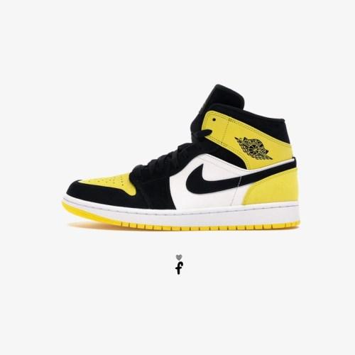 Nike Air Jordan 1 Mid Yellow Toe