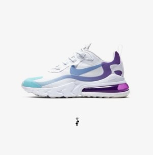Nike Air Max 270 React Blancas lilas