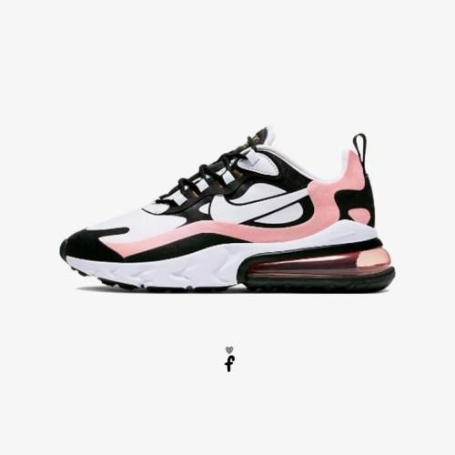 nike air max 270 react rosa y negro