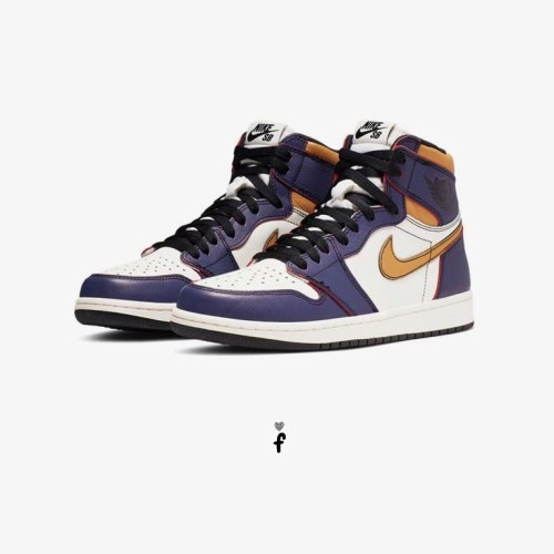 nike sb x air jordan 1 retro high og lakers