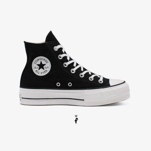Converse All Star Plataforma High-Top Negras 560845C