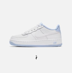 Nike Air Force 1 Low White Hydrogen Blue Blancas