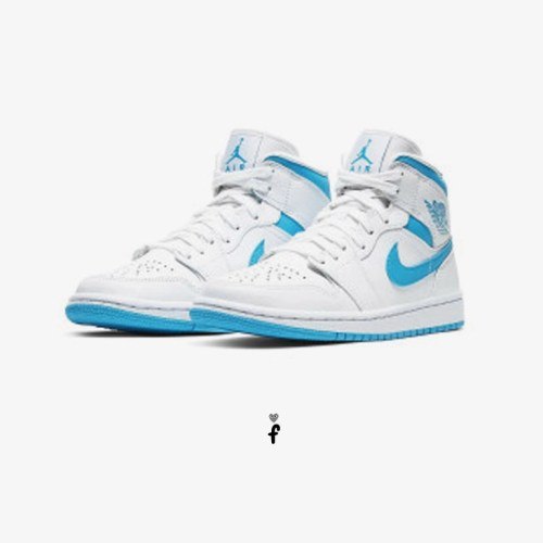 Nike Air Jordan 1 Mid UNC Blancas Azules