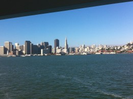 View of San Francisco harbor