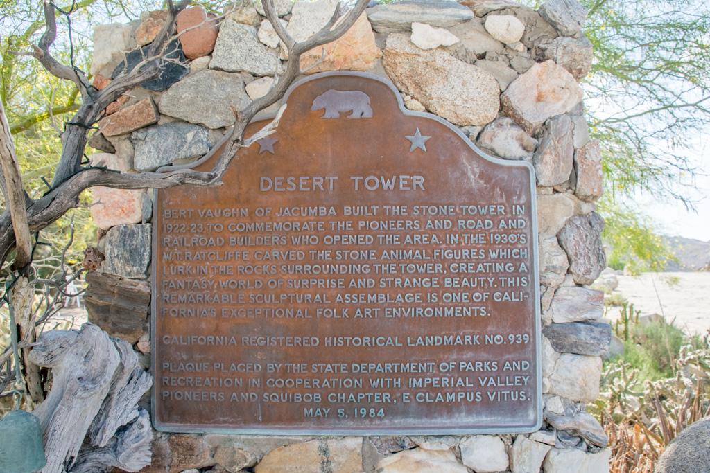 Desert Tower sign