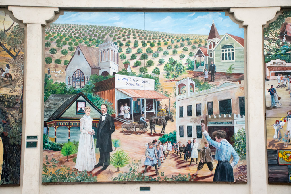 The Lemon Grove History Mural Section 4