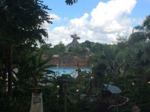 Walt Disney World's Typhoon Lagoon is themed to be a disaster-stricken tropical island