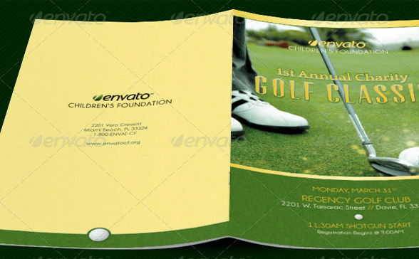 10 Popular Free And Premium Golf Brochure Templates Designs To Download
