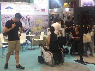造型時尚的電動輪椅