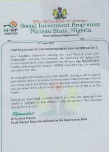 Deadline For Npower Batch C Biometric Verification