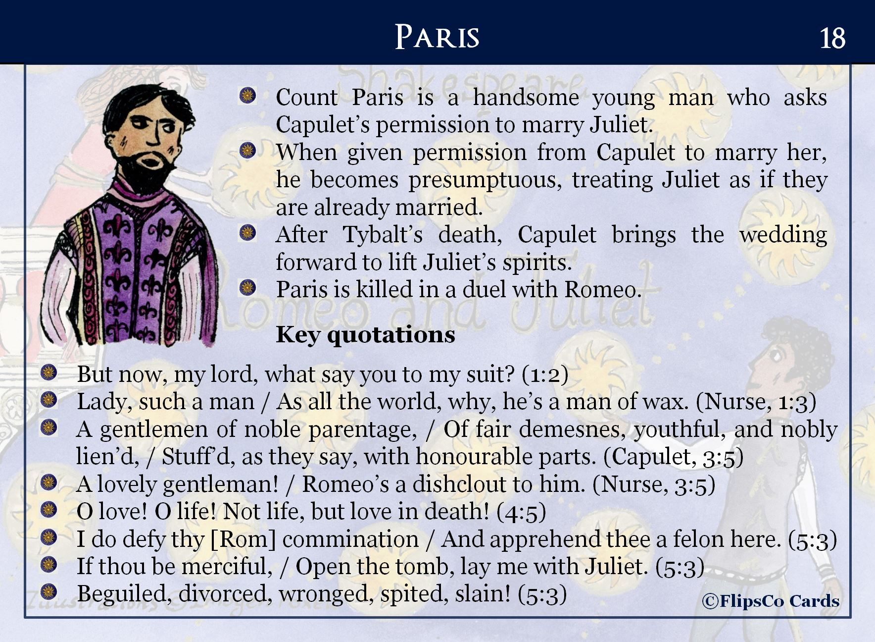 Romeo And Juliet Flipsco Cards