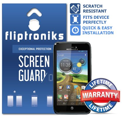Fliptroniks Clear Screen Protector for Motorola Atrix HD with Lifetime Warranty 2 Pack