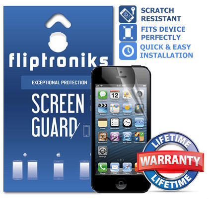 Fliptroniks Clear Screen Protector for Apple Iphone 4s Lifetime Warranty 2 Pack