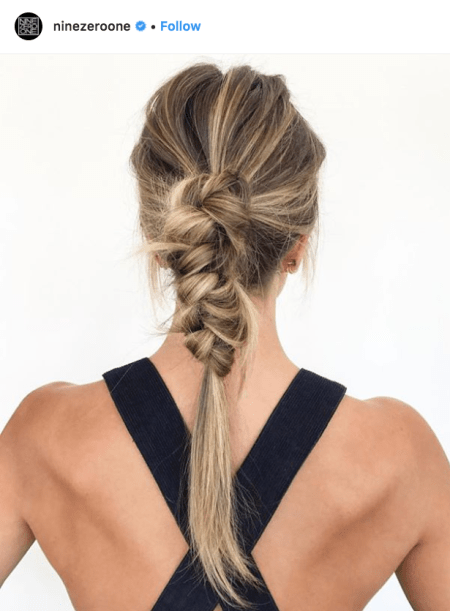 Knotted-Pony-holiday-hair-by-nine-zero-one-salon