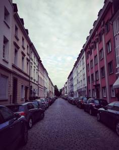 Beautiful residential neighborhood in Dusseldorf