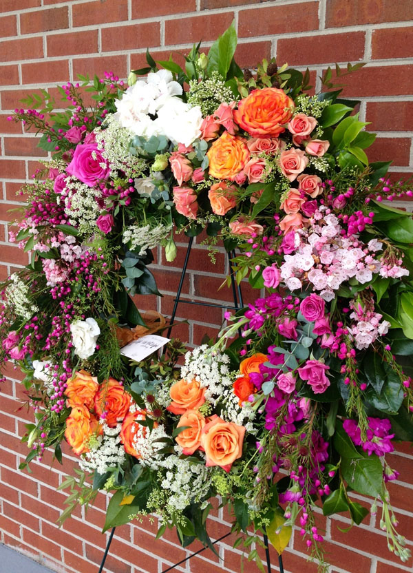 flower sympathy wreath