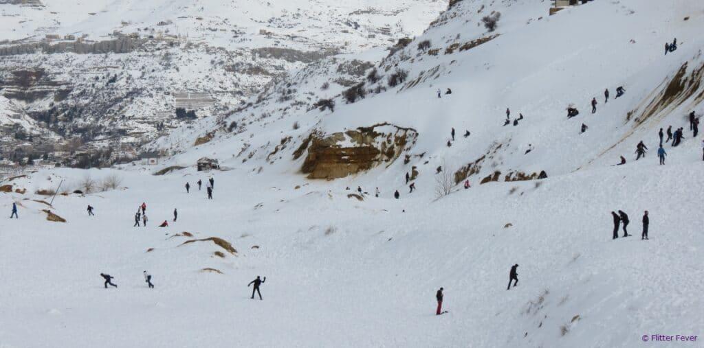 Snow fun mountains Beirut Lebanon