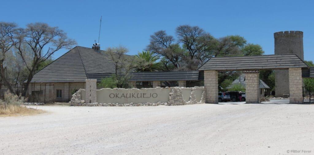 Okaukeujo Camp entrance Etosha Namibia Africa