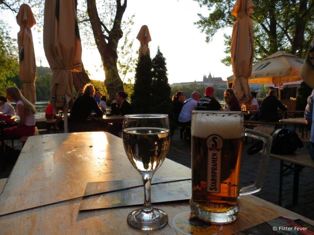Summer vibes at Nominanza River Restaurant Prague