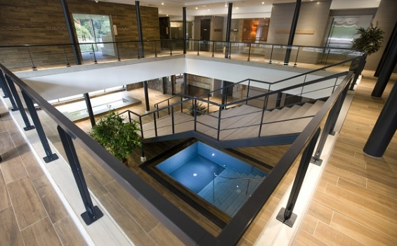 Wellness Thermen Soesterberg stairs from above sauna