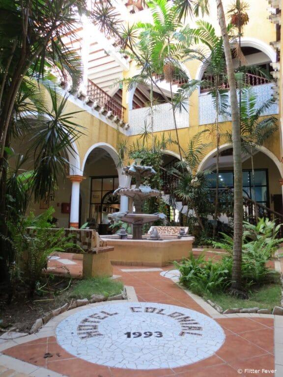Hotel Colonial in Cayo Coco courtyard Cuba