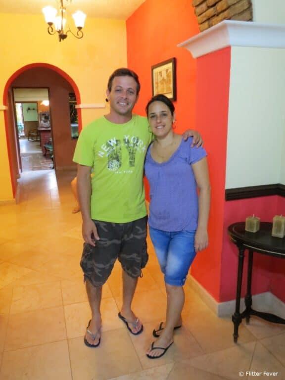 Janio and Yahima Montero of Hostal Las Margaritas in Trinidad