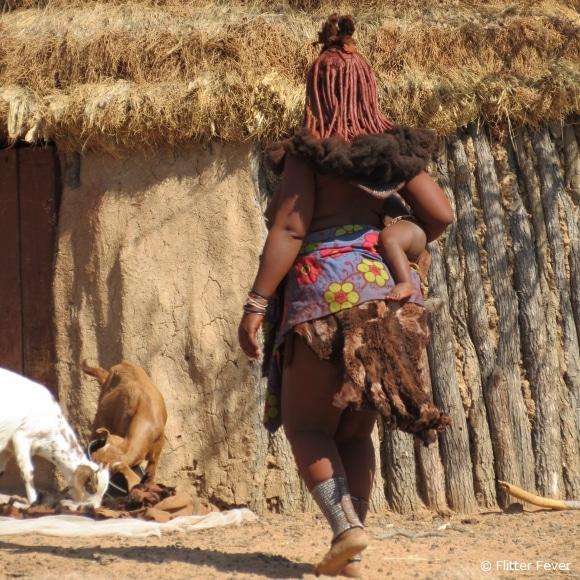 Himba woman with kid @ Namibia