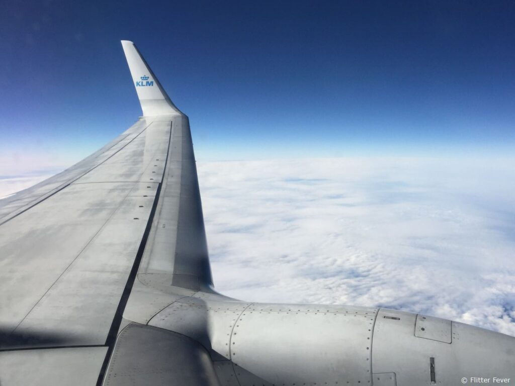 KLM high in the sky