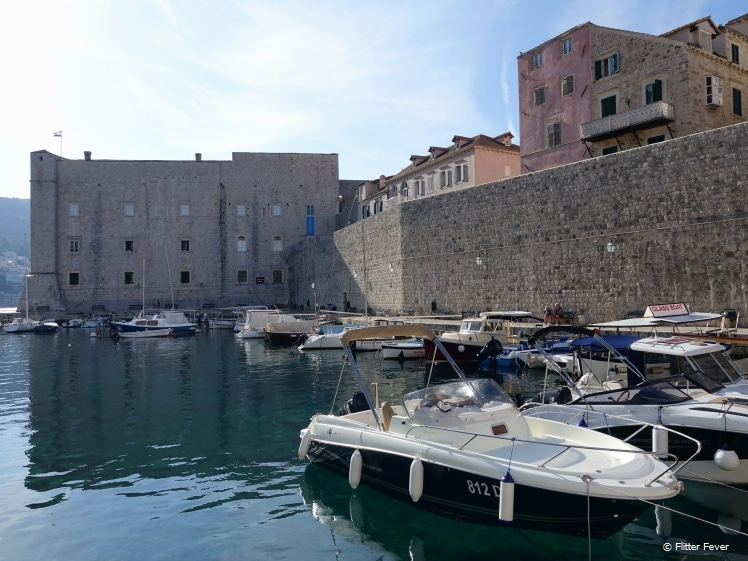 Old town harbor of Dubrovnik