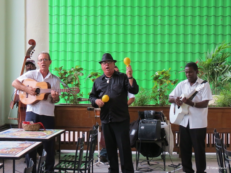 Band playing live at Parque Central, Havana