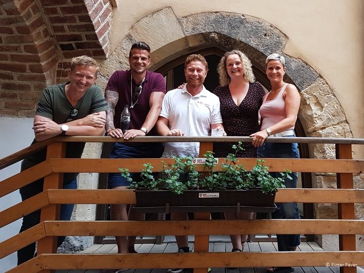 Brian, Joshua, Dennis, Elisa and Zusanna at the 360 Tours Prague office