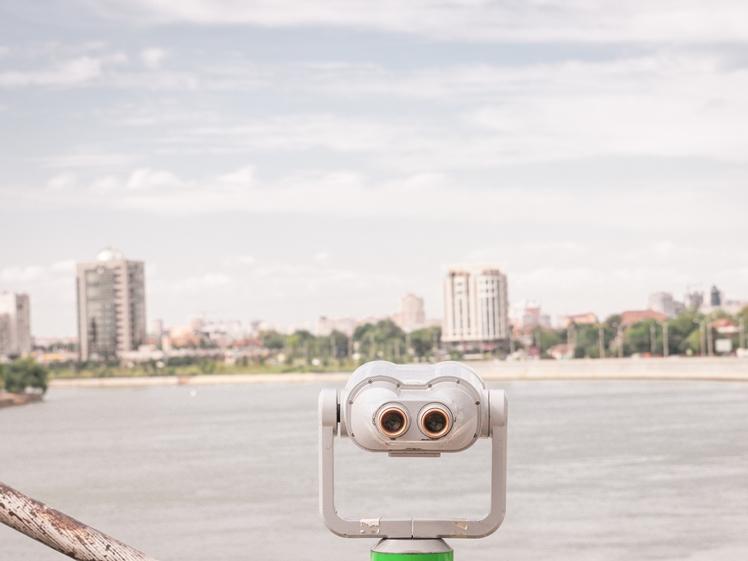 Watching over the Kuban River in Krasnodar