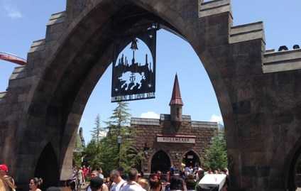 The train station at Hogsmeade