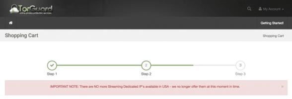 TorGuard No Streaming IP