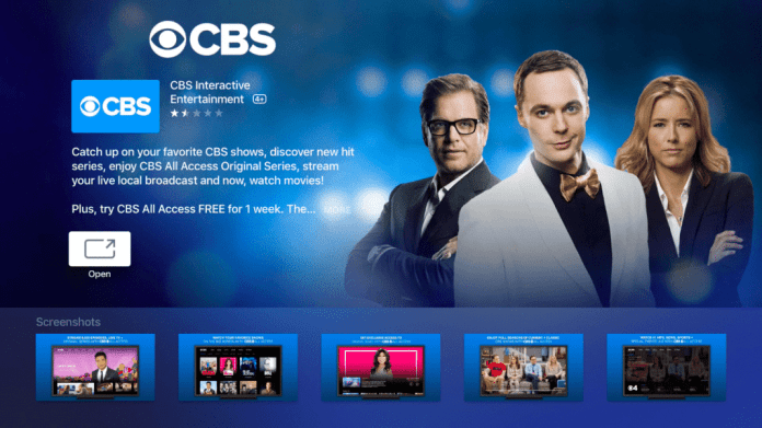 CBS All Access in Apple TV Store