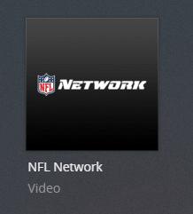 NFL network plex channel screenshot