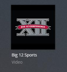 big12sports plex channel screenshot