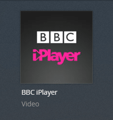 BBC iPlayer plex channel