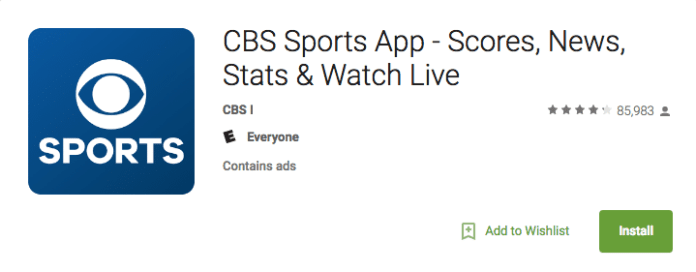 CBS Sports on Android