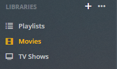 plex libraries settings menu