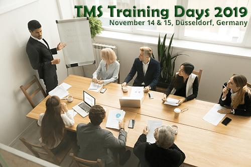 November! TMS Training Days 2019 in Düsseldorf, Germany
