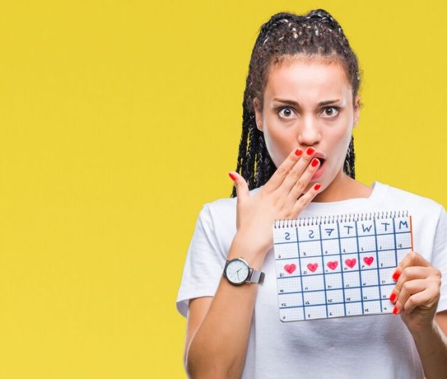 Girl With A Period Calendar